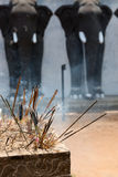 Incense sticks in a Buddhist temple Stock Photos