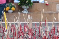 Incense sticks. In a Buddhist temple Thailand Stock Images
