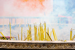 Incense sticks burning Stock Images