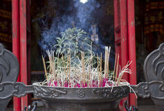 Incense sticks burning Royalty Free Stock Images