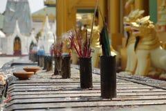 Incense Sticks Burning with Smoke royalty free stock photos