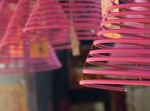 Incense sticks burning in a Temple. Hong Kong. Stock Images