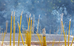 Incense sticks in chinese temple Royalty Free Stock Photography