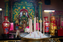 Incense sticks in Chinese temple. Royalty Free Stock Photography