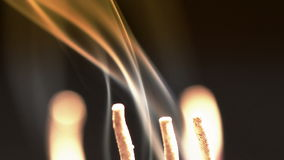 Incense sticks stock footage