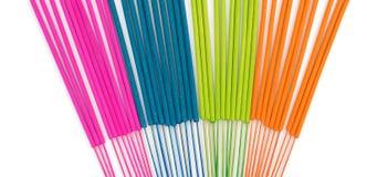 Incense sticks color full isolate on white background. Incense sticks multi color full stock photos