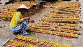 Incense sticks drying Stock Image