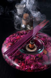 Incense sticks and essential oils. aromatherapy and spa Stock Photography