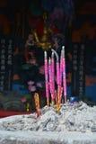 Incense sticks in the incense burner Stock Photo