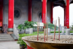 Incense sticks in the incense burner Stock Image