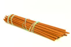 Incense sticks isolated on white royalty free stock photo