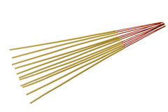 Incense sticks isolated on white background.  royalty free stock images