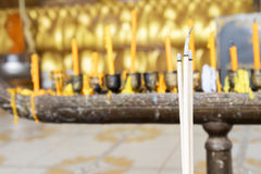 Incense sticks(joss sticks) burning in the temple fo religion concept Stock Photography
