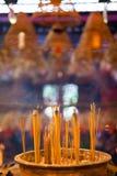 Incense sticks at Man Mo Temple, Hong Kong Stock Photo