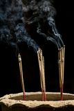 Incense sticks with smoke Royalty Free Stock Images