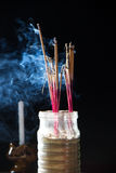 Incense sticks with smoke Stock Photography