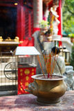 Incense sticks at temple Stock Images