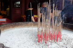 Incense sticks at a temple Stock Photo