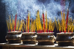 Incense sticks for traditional spiritual Buddhist burning in Vietnam Royalty Free Stock Images
