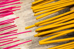 Incense sticks for traditional spiritual Buddhist burning in Vietnam Stock Images