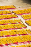 Incense sticks for traditional spiritual Buddhist burning in Vietnam Royalty Free Stock Photo
