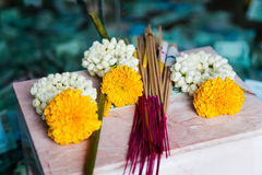 Incense sticks used for Buddhist praying Royalty Free Stock Image