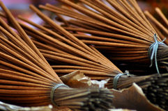 Incense sticks in a Vietnamese market Royalty Free Stock Photos