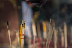 Incense sticks. Incense for worship benedictine abbey Royalty Free Stock Photography