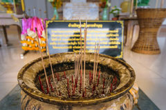 Incense in temple. For worship buddha inThailand,region Thailand Stock Images