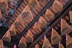 Incense in Thien Hau pagoda Royalty Free Stock Image