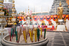Incense. To worship with incense is the belief of the Buddhists Stock Photos
