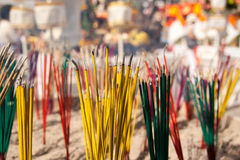 Incense. To worship with incense is the belief of the Buddhists Stock Photo
