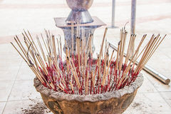 Incense to worship the Buddha Royalty Free Stock Photo