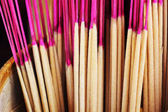 Incense in vases for the altar. Stock Photo