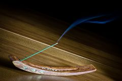 Incense on wood Royalty Free Stock Photography