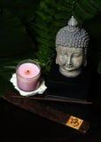 Incenso, Buddha e candela fotografie stock libere da diritti