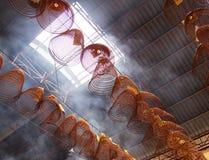 Incenso burining cinese della bobina Fotografie Stock