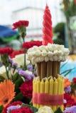 incenso e candele dei fiori messi Fotografie Stock