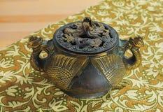 Incensory de bronze oriental Foto de Stock