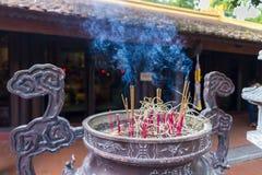 Incensory no pagode do quoc do tran Imagem de Stock Royalty Free