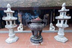 Incensory no pagode do quoc do tran Fotografia de Stock