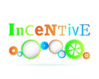 Incentive Gears. Incentive word above modern gear wheels Royalty Free Stock Images