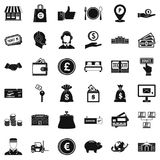 Incentive icons set, simple style. Incentive icons set. Simple set of 36 incentive vector icons for web isolated on white background Stock Image