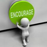 Incentive meios do botão inspiram motivam Fotografia de Stock Royalty Free