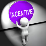 Incentive Pressed Means Bonus Reward And Motivation. Incentive Pressed Meaning Bonus Reward And Motivation Royalty Free Stock Images