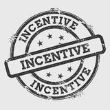 Incentive rubber stamp  on white. Royalty Free Stock Photo