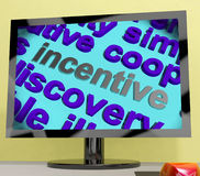 Incentive Word Screen Shows Motivation Enticement Or Reward Stock Image