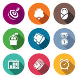 Incentives life Icons Set. Vector Illustration Royalty Free Stock Images