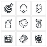 Incentives life icons. Vector Illustration. Stock Images