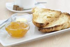 Inceppamento dell'albicocca e del croissant Fotografia Stock
